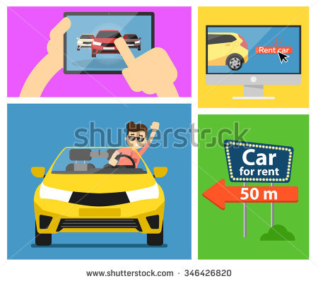stock-vector-rent-a-cars-and-trading-cars-in-flat-design-web-banners-elements-keys-to-the-car-on-rent-rental-346426820